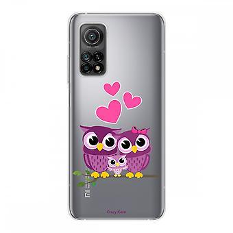 Runko Xiaomi Mi 10t Silikoni pehmeä 1 mm, Pöllö perhe