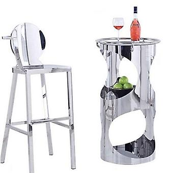 Stainless Steel Counter Stool Bar Table (stainless Steel)