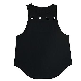 Men's Sleeveless Vests Shirt, Sweat Solid Color, Round Collar, Breathable Tank