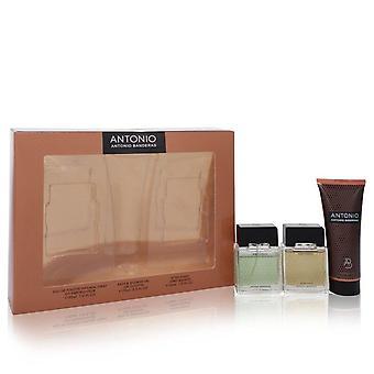 أنطونيو هدية مجموعة بواسطة أنطونيو بانديراس 1 أوقية Eau De Toilette Spray + 1 أوقية بعد الحلاقة + 2.5 أوقية حمام & دش جل