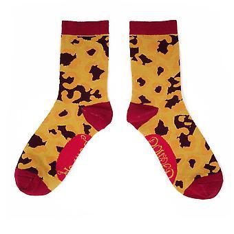 Powder Women's Ankle Socks | Leopard Print