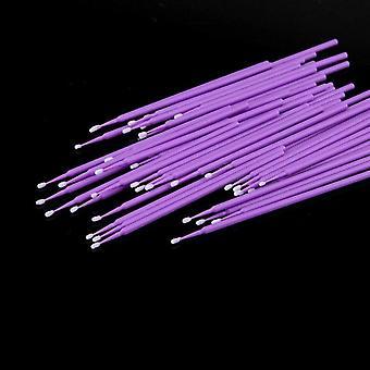 Micro cepillos- Hisopo aplicador para extensión de pestañas, cepillo de rímel, pegamento