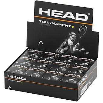 Head Tournament Squash Pallot (Pakkaus 12)