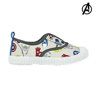 Children's casual trainers the avengers 73572 white grey