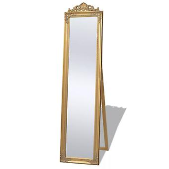 Free-standing Mirror Baroque Style 160x40 Cm Gold