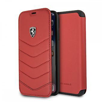 Etui Pour Iphone X / Xs En Cuir Véritable Rouge, Porte-cartes
