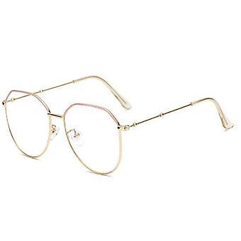 Myopia -350 Metal Irregular Polygon Eyeglasses