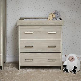 Obaby Nika Changing Unit - Grey Wash