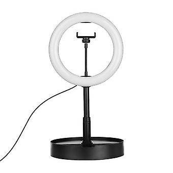 Portable 10 Inch LED Ring Light with Mobile Phone Holder Adjustable Light Stand