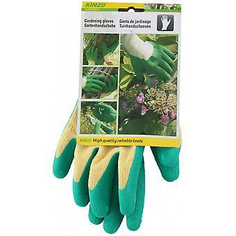 garden gloves textile/latex yellow/green size 10
