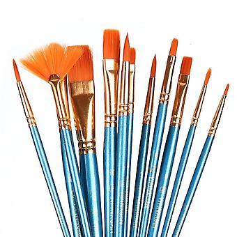 Pinsel Set Nylon Haar Malerei Pinsel kurze Rod Öl Acryl Pinsel