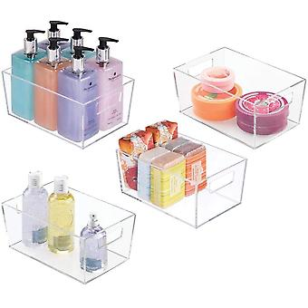 FengChun 4er-Set Ablagebox mit integrierten Griffen kleine Aufbewahrungsbox fr Make-up, Handtcher