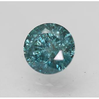 Cert 0,73 karat elävä sininen SI3 pyöreä brilliant parannettu luonnollinen timantti 5,66mm