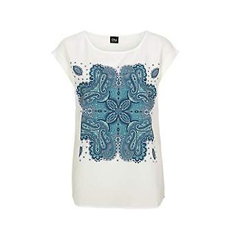 s.Oliver BLACK LABEL T-Shirt, White (67D2 Frontprint Paisley), 40 Woman