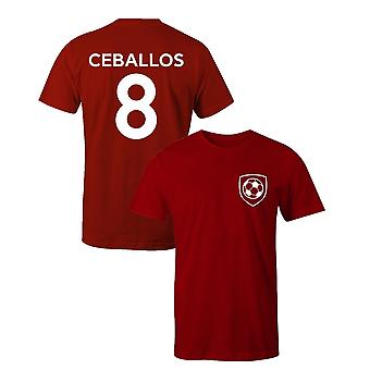 Dani ceballos 8 club style kids player football t-shirt