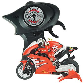 Electric Mini RC Motorcycle Radio Controlled 2.4GHz Racing Motorbike Children Toy Boys Adults(Red)