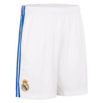 Real Madrid 2021-2022 Home Shorts (White) - Kids