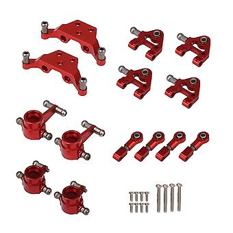14 Pieces RC Upgrade Metal Parts Red Kit with Screws Replacement for WL