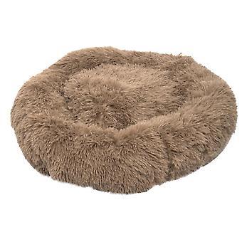 70X70cm barna kisállat kutya macska nyugtató ágy meleg puha plüss kerek dt2658