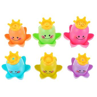 13X10cm assorted color 4 sets stacking cup toy cartoon baby bathing shower water playing toys dt3705