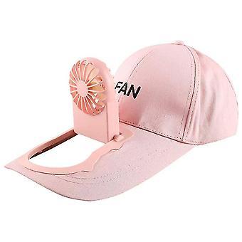 Pink USB de încărcare de baseball capac de golf pălărie reglabilă pălărie pentru camping în aer liber de călătorie fa1051