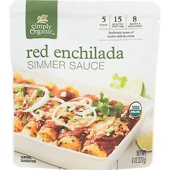 Simpelthen Økologisk Sauce Red Enclda Simr Org, tilfælde af 6 X 8 Oz