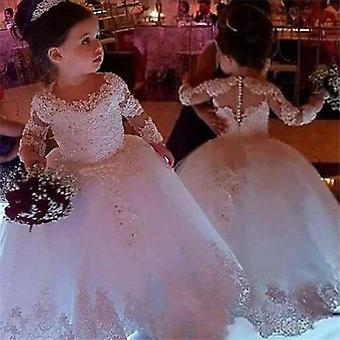 Långärmad klänning, prinsessans blomsterklänningar