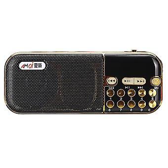 Portátil Digital TF Tarjeta U Disco FM Radio MP3 Reproductor de Música Altavoz
