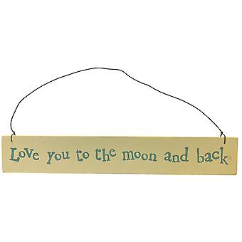 East of India Love You To The Moon Plaque
