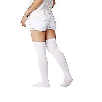 Womem hosszú pamut zokni térd comb felett Magas tömlő Trendi harisnya