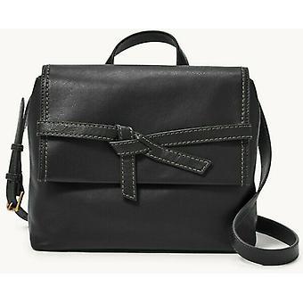 Fossil Willow Leather Crossbody Black Handbag SHB2324001