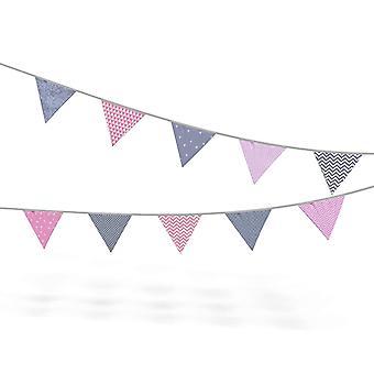 Wimpelkette Stoff-Girlande von , farbenfrohe Dekoration für Kinderzimmer - wählbar in 3
