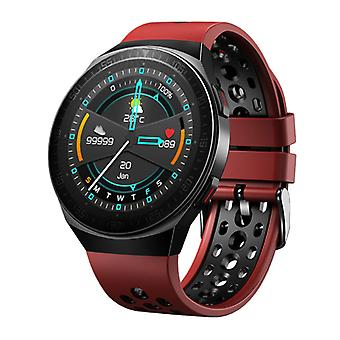 PrettyLittle MT-3 Smartwatch with Speaker and Heart Rate Monitor - Fitness Sport Activity Tracker Silica Gel Strap Watch iOS Android Red