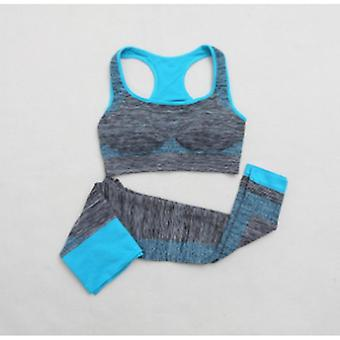 Yoga set crop tops + yoga leggings fitness gym running clothes for women