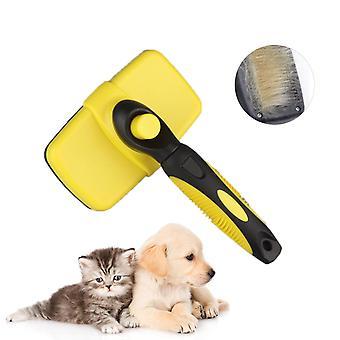 القط الكلب فرشاة تنظيف الحيوانات الأليفة ومشط الاستمالة يقلل من ذرف وتشابك