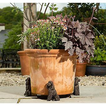 Potty Feet Decorative Poodle Themed Plant Pot Feet - Bronze Color - Set of 3