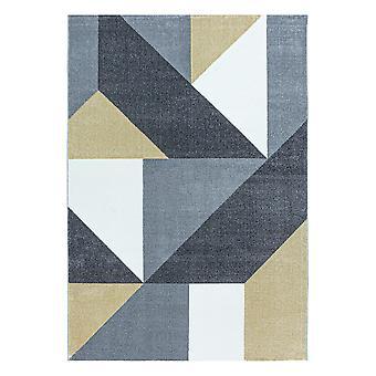 Sala de estar Alfombra de pila corta Patrón de alfombra Geométrica Moderna Suave Amarillo
