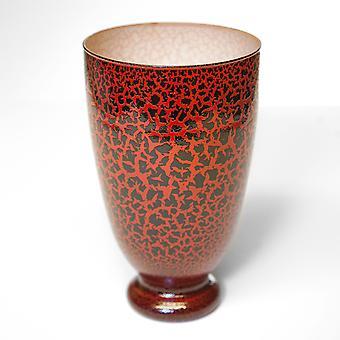 Flower vase red glass Dekovase table vase vase made of recykeltem glass
