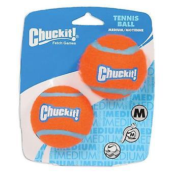 """Chuckit Tennis Balls - Medium Balls - 2.25"""" Diameter (2 Pack)"""
