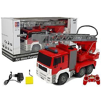 Ferngesteuertes Auto - Feuerwehrauto mit Leiter - 1:20 - Doppel E