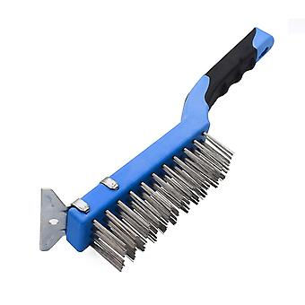 Brush With Stainless Steel Bristle Handle And 3-row Squeegee