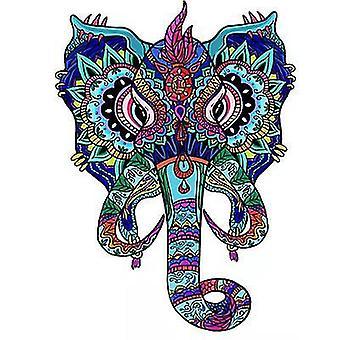 Rainbow Elephant Jigsaw Puzzle Piece Gioco per bambini e adulti(A4)