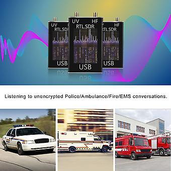 100khz-1.7ghz האם רדיו מקלט מלא הלהקה Rtl-sdr תוכנה מוגדרת רדיו