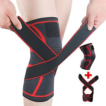 1pcs Sports Knee Pad Hommes Pressurized Elastic Knee Pads Support Fitness Gear Basketball Volleyball Brace Protector