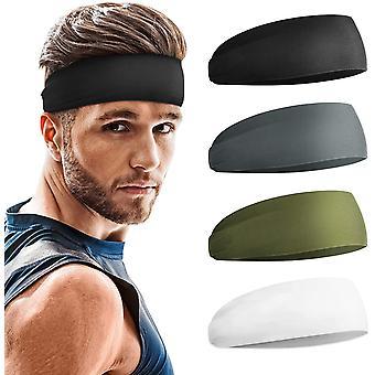 Мужское оголовье 4 Pack, Спортивные повязки на голову для мужчин, Унисекс Повязка для волос