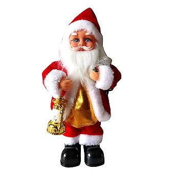 Silktaa Musique électrique Père Noël Ornements de Noël Jouets de Noël pour enfants