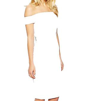 ASOS Petite Exclusive Bardot Pencil Dress with Strappy Back DR905-White-6