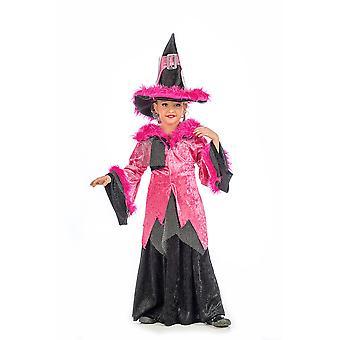 Hexe Sandra Mädchen Kostüm Zauberin Halloween Kinderkostüm