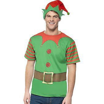 Alf kostume Elf kostume sæt jul Elf sæt Herre størrelse M