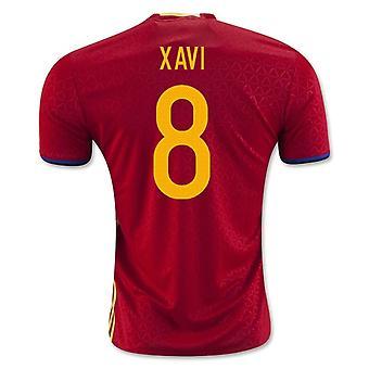 2016-2017 Španělsko domácí košile (Xavi 8)